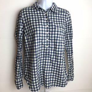 J. Crew Checkered Flannel Button Shirt